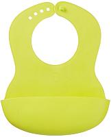 Нагрудник детский Happy Baby Plastik Bib 16000 (лайм) -