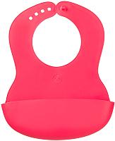 Нагрудник детский Happy Baby Plastik Bib 16000 (красный) -