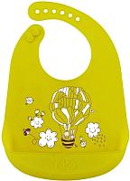 Нагрудник детский Happy Baby Bib Pocket 16006 (лайм) -