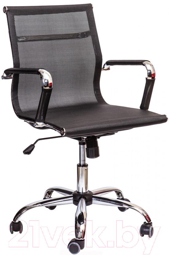 Купить Кресло офисное Седия, Adel Chrome (черный), Китай