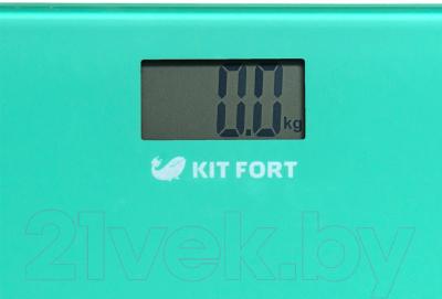 Напольные весы электронные Kitfort KT-804-1 (зеленый)