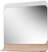 Зеркало для ванной Belux Итака В75 (белый/молочный дуб) -
