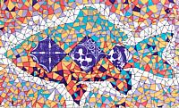Декоративная плитка Сокол Гауди D696a (330x200) -