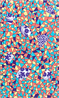 Декоративная плитка Сокол Гауди D692а (330x200) -