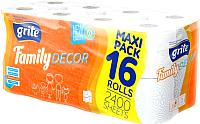 Туалетная бумага Grite Family Deco  (16рул) -