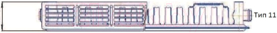 Радиатор стальной Prado Classic тип 11 500x1300