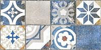 Декоративная плитка Нефрит-Керамика Лофт / 00-00-1-08-11-65-742 (400x200, синий узор) -