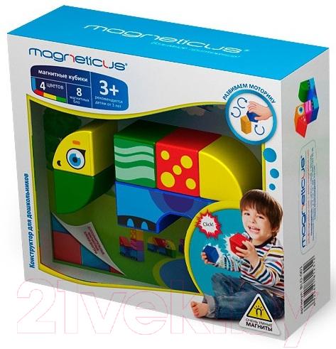Купить Развивающая игрушка Magneticus, Магнитные кубики. Джунгли / BLO-001-01, Россия, пластик