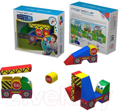 Купить Развивающая игрушка Magneticus, Магнитные кубики. Стройка / BLO-001-02, Россия, пластик