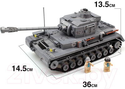 Конструктор kazi танк пантера 82010