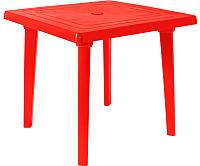 Стол пластиковый Алеана Квадратный 80x80 / 100012 (красный) -