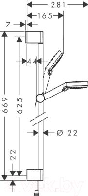 Душевой гарнитур Hansgrohe Crometta Vario Unica 650 26532400