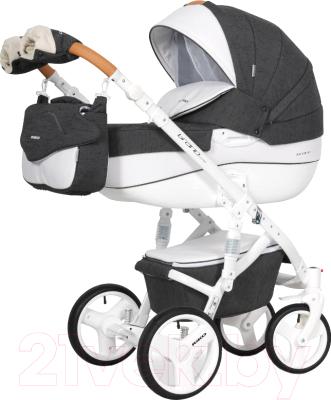 Детская универсальная коляска Riko Brano Luxe 2 в 1 (06/anthracite)