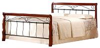 Двуспальная кровать Halmar Veronica (античная черешня/черный) -