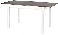 Обеденный стол Halmar Maurycy (темный орех/белый) -