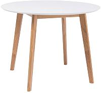 Обеденный стол Signal Mosso II 100x100 (белый/дуб) -