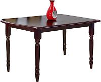 Обеденный стол Halmar Arnold 150-190x80 (темный орех) -