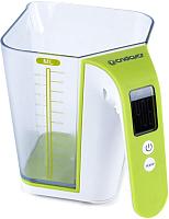 Кухонные весы Endever Skyline KS-514 (белый/зеленый) -