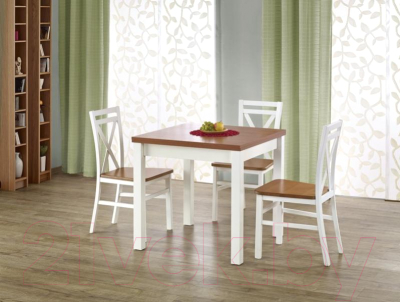 Обеденный стол Halmar Gracjan (ольха/белый)