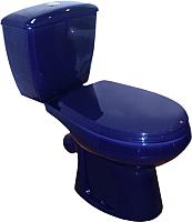 Унитаз напольный Оскольская керамика Элисса (синий, с гофрой) -