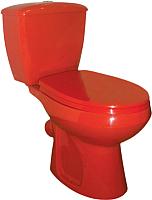 Унитаз напольный Оскольская керамика Элисса (красный, с гофрой) -