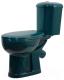 Унитаз напольный Оскольская керамика Дора (зеленый, с гофрой) -