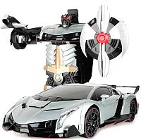 Радиоуправляемая игрушка MZ Трансформер Lamborghini Veneno 2333X (серебристый) -