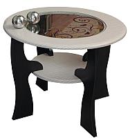 Журнальный столик Олмеко Маджеста-6 со стеклом (венге/клен азия) -