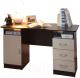 Письменный стол Олмеко 2-х тумбовый (венге/дуб линдберг) -