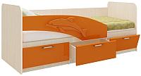 Односпальная кровать Олмеко Дельфин 06.222 (оранжевый) -