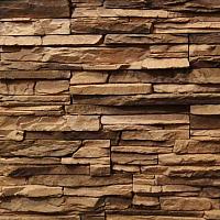 Декоративный камень Royal Legend Викос коричневый с темным сланцем 12-540 (485/295/180x95x20-45) -