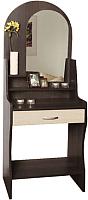 Туалетный столик с зеркалом Олмеко Надежда-М07 (венге/клен азия) -