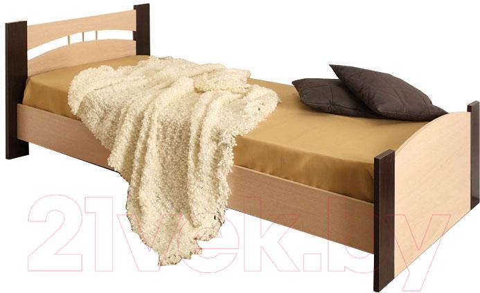 Купить Односпальная кровать Олмеко, 900 (венге/дуб линдберг), Россия
