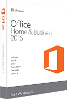 Пакет офисных программ Microsoft Office Home and Business 2016 (T5D-02322) -