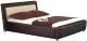Двуспальная кровать Halmar Samanta P (коричневый/бежевый) -