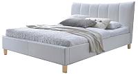 Двуспальная кровать Halmar Sandy (белый) -