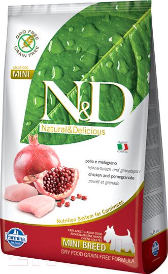 Купить Корм для собак Farmina, N&D Grain Free Chicken & Pomegranate Adult Mini (2.5кг), Италия