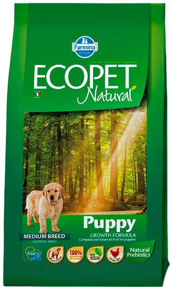 Купить Корм для собак Farmina, Ecopet Natural Puppy Medium (12кг), Италия