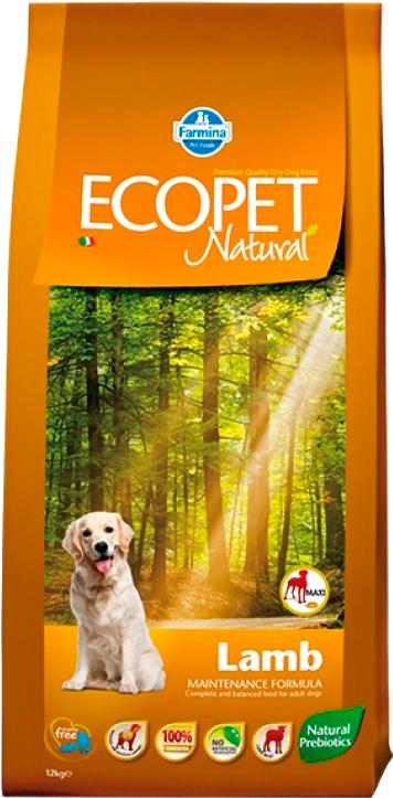 Купить Корм для собак Farmina, Ecopet Natural Lamb Maxi (12кг), Италия