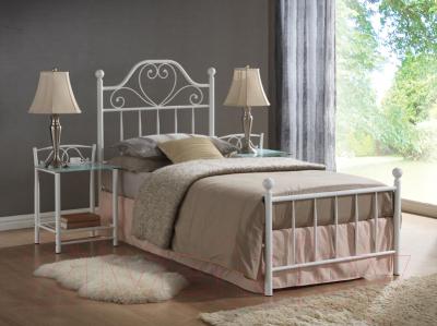 Односпальная кровать Signal Lima 90x200 (белый)