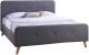 Двуспальная кровать Signal Malmo 160x200 (серый) -