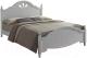 Двуспальная кровать Signal Malta (белый) -