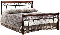 Двуспальная кровать Signal Venecja Bis 2 OS 160x200 (античная черешня) -