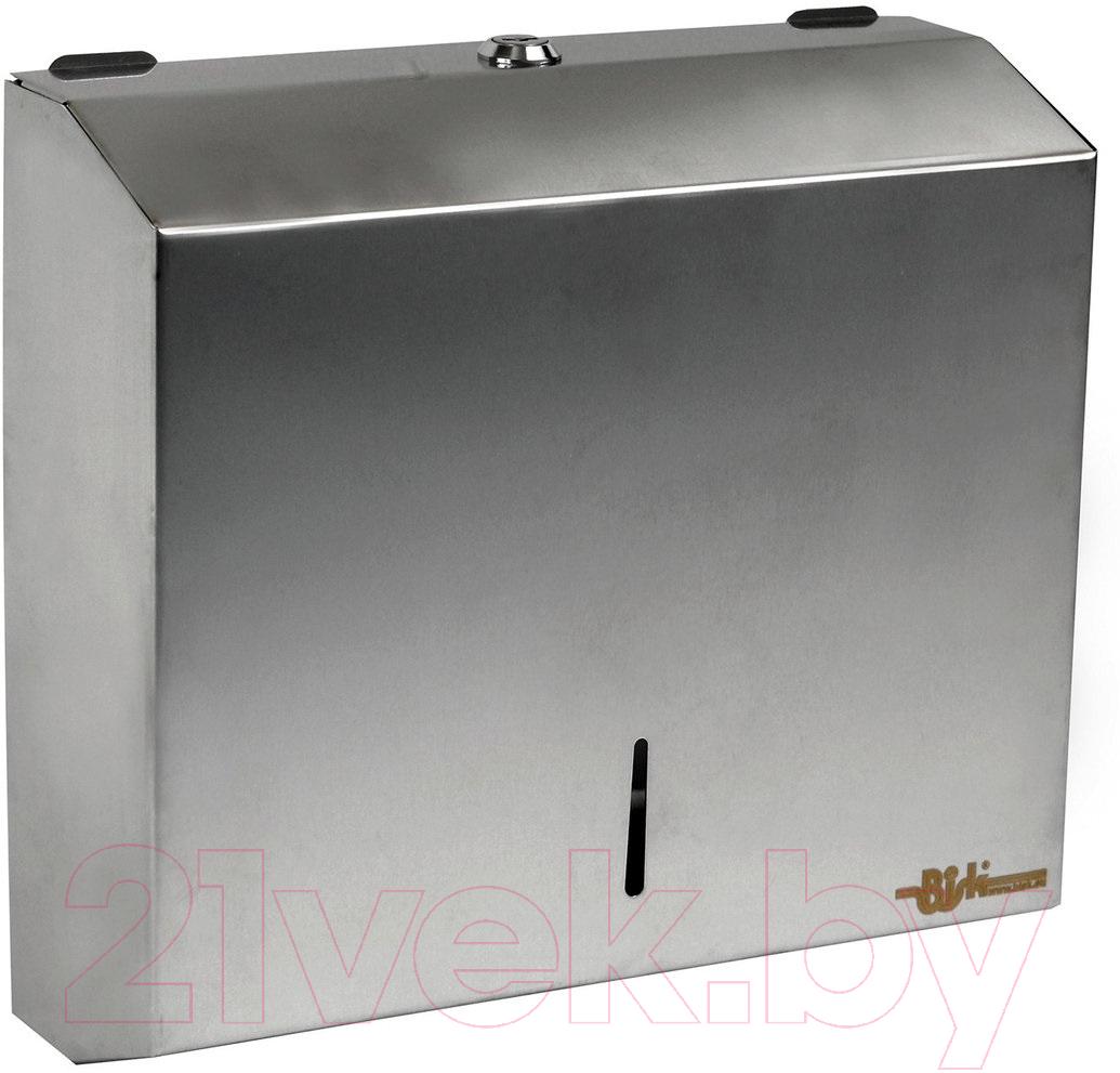 Купить Диспенсер для бумажных полотенец Bisk, 00342, Польша, нержавеющая сталь