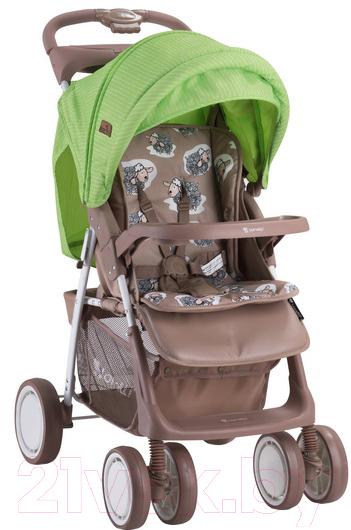 Купить Детская прогулочная коляска Lorelli, Foxy Beige&Green Lambs (10020521732A), Китай