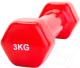 Гантель Bradex SF 0163 (3кг, красный) -