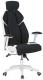 Кресло геймерское Halmar Chrono (черный/белый) -