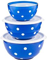 Набор салатников Berossi Marusya ИК 22410000 (синий полупрозрачный) -