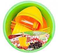 Набор пластиковой посуды Berossi Picnic Mini ИК 22634000 (солнечный) -