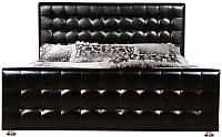 Двуспальная кровать ГрандМанар Кимберли КИ-018.03 160x200 (Unica Black) -
